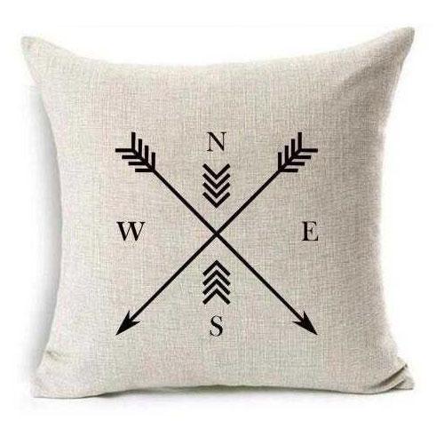 Feather Arrow Magic squares Cotton Linen Throw