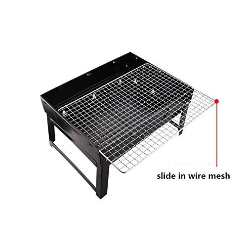 VMFTS Portable Charcoal Grill Small Stainless Steel BBQ Grill