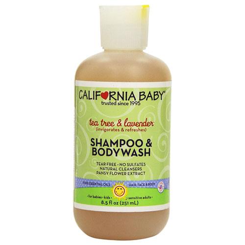 9 California Baby Tea Tree and Lavender Shampoo & Bodywash - 8.5 oz