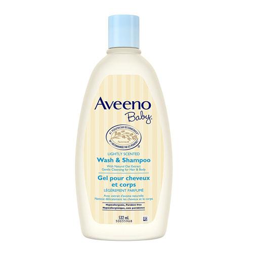 1 Aveeno Baby Wash & Shampoo, 18 Oz