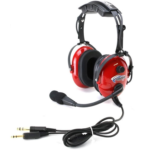 Rugged Air RA250 Red General Aviation Child Headset