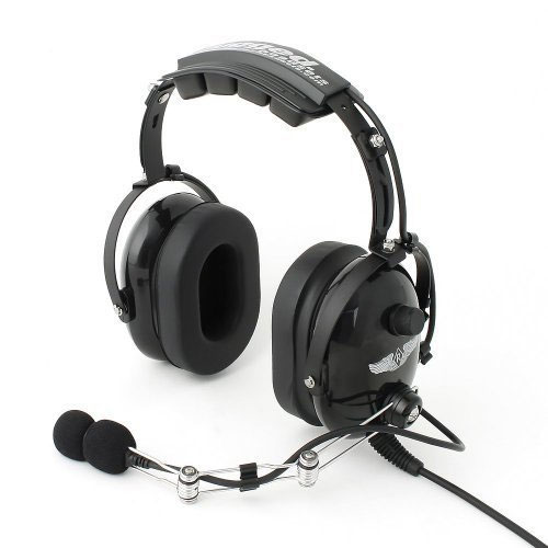 Rugged Air RA454 Black General Aviation Pilot Headset