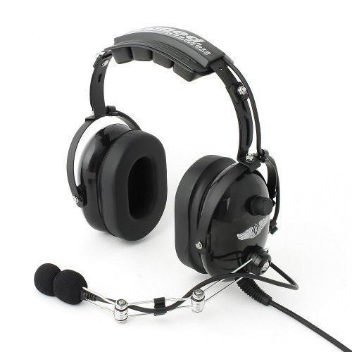 Rugged Air RA454 Black General Aviation Pilot Headset