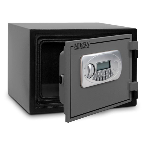 10. Mesa Safe MESA MF30E U.L. All Steel Classified Fire Safe with Electronic Lock, 0.4-Cubic Foot, Black and Grey