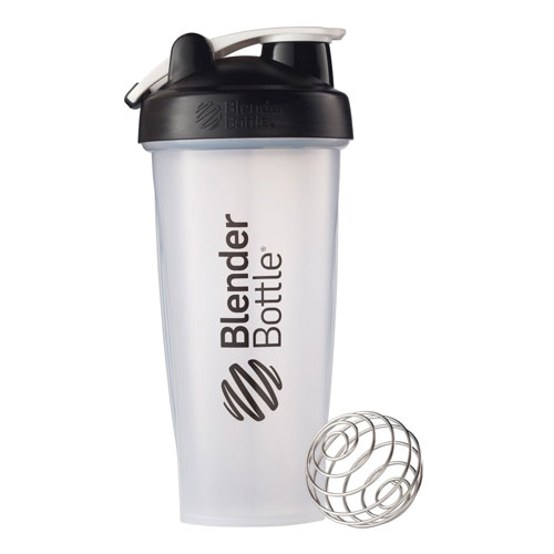 2. BlenderBottle Classic Loop Top Shaker Bottle, Clear/Black, 28-Ounce Loop Top