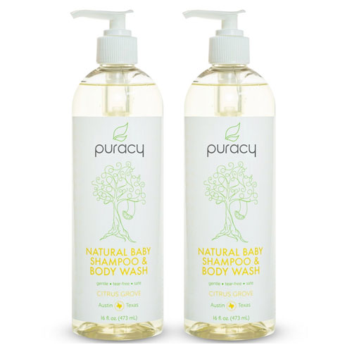 3 Puracy Natural Baby Shampoo and Body Wash