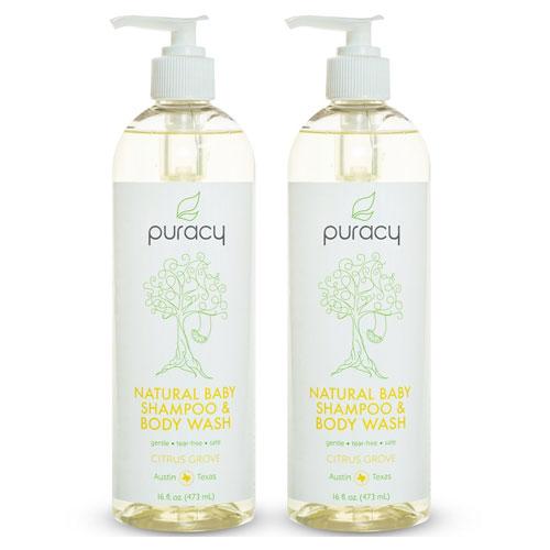 3 Puracy Natural Baby Shampoo and Body Wash