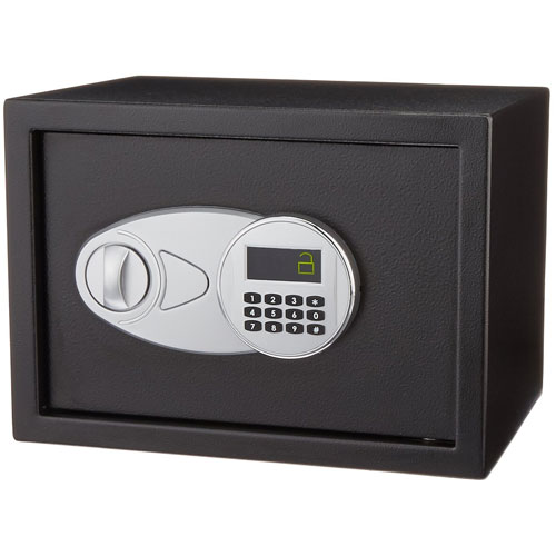 1. AmazonBasics Security Safe 0.5 Cubic Feet