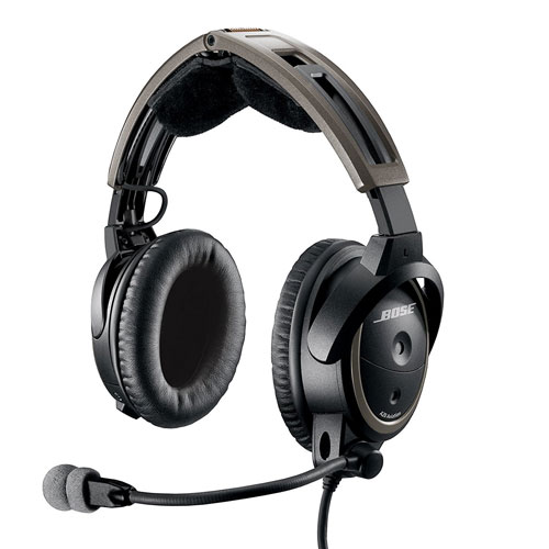 Bose A20 Aviation Headset Dual Plug Cable, Black