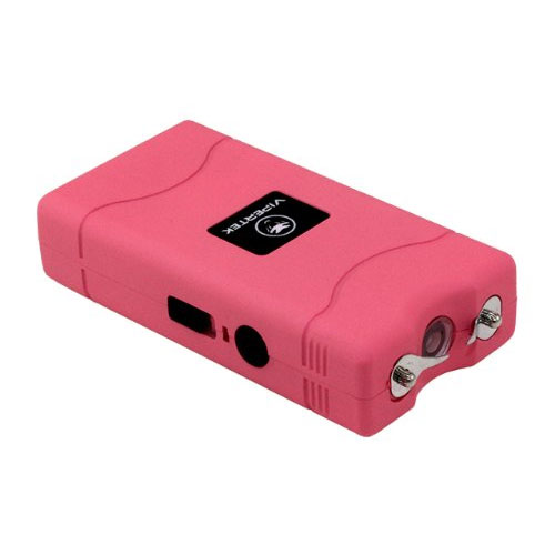 2. VIPERTEK VTS-880 - 5 Billion Mini Stun Gun - Rechargeable with LED Flashlight, Pink