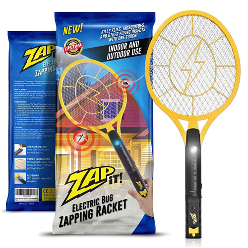 Zap-It! Bug Zapper - Rechargeable Mosquito, Fly Killer, and Bug Zapper