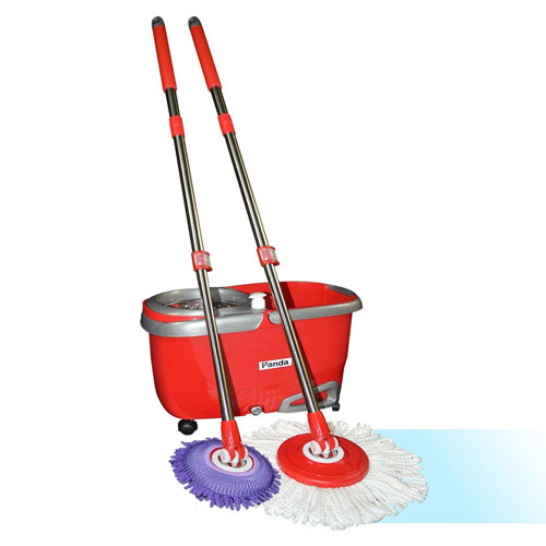 Panda Premium Effortless Wring Spin Mop and Bucket Set