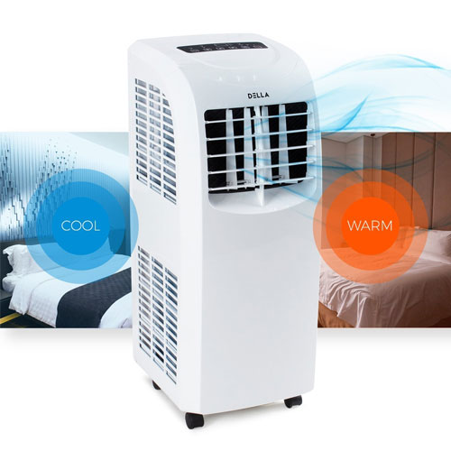 Della 8,000 BTU Portable Air Conditioner Dehumidifier A/C Remote Control