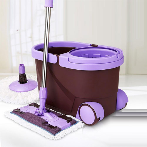 GAOJIAN Spin Mop Bucket Portable Magic Double Drive Mop