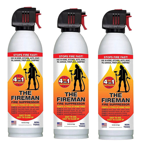 7. THE FIREMAN - UL APPROVED Multi-Purpose Fire Extinguishing Suppressant Spray