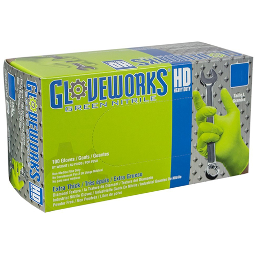 5. AMMEX - GWGN46100-BX - Nitrile Gloves - Gloveworks - Disposable, Powder Free, 8 mils,