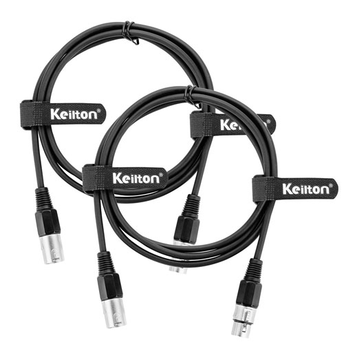 7. Keilton XLR Microphone Cable (6 Feet) Male to Female, 2Pack