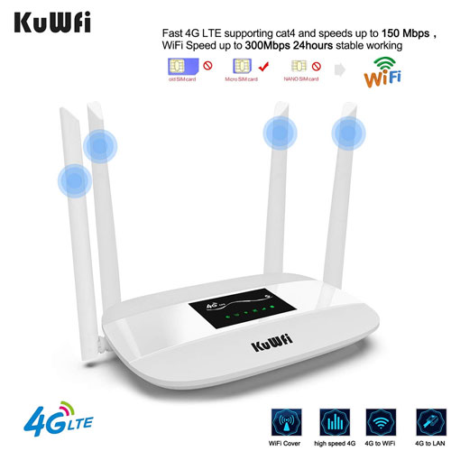 6. KuWFi 4G LTE CPE Mobile Wi-Fi