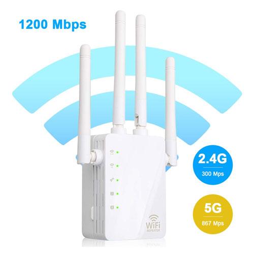 1200 Mbps, 2.4 GHz WIFI Range Extender