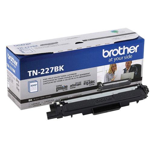 4. Brother Genuine TN227, TN227BK, High Yield Toner Cartridge, Replacement Black Toner
